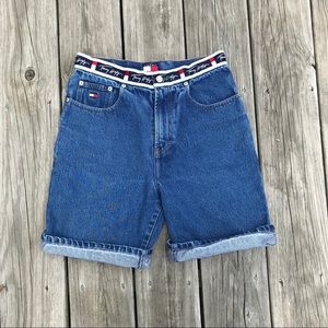 Tommy Hilfiger boys jean shorts with logo